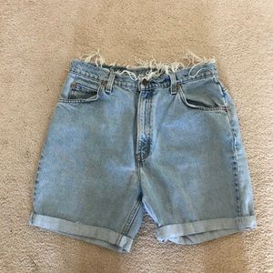 "High waisted ""mom jean style"" shorts"